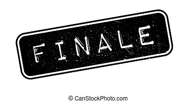 Finale rubber stamp on white Print, impress, overprint