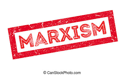 Marxism rubber stamp on white. Print, impress, overprint.