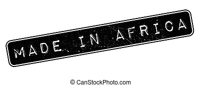 Made in Africa rubber stamp on white Print, impress,...