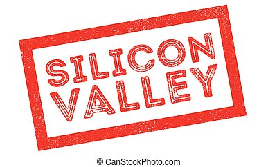 Silicon Valley rubber stamp on white. Print, impress,...