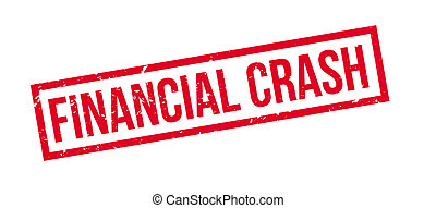 Financial Crash rubber stamp on white Print, impress,...