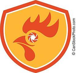Rooster Eye Shutter Crest Retro