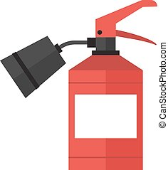 Red fire extinguisher isolated vector. - Red fire...