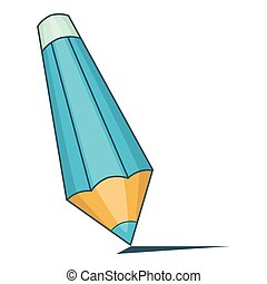 Pencil icon, cartoon style