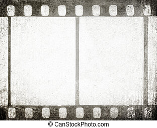 Vintage film strip, grunge background.