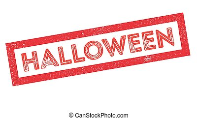 Halloween rubber stamp on white. Print, impress, overprint.
