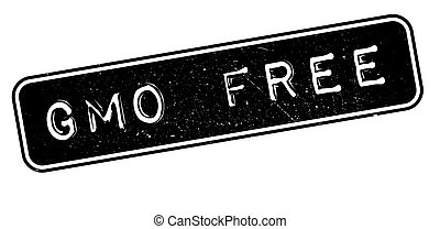 GMO Free rubber stamp on white Print, impress, overprint