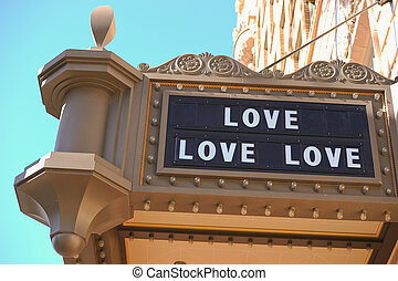 love, love, love - now playing at a theatre near you