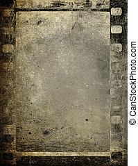 Film strip, vintage photographic background.