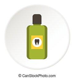 Mouthwash icon, flat style - Mouthwash icon. Flat...