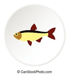 Salmon icon, flat style