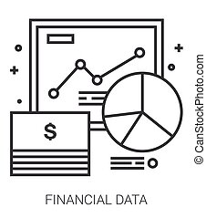 Financial data line infographic.