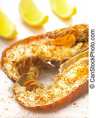 boiled crayfish - boiled crayfish with spices and lemons...