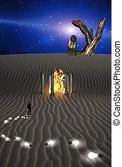 Mysterious Desert Scene