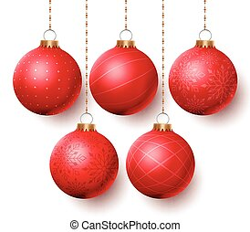 Christmas balls vector set Designs - Christmas balls vector...