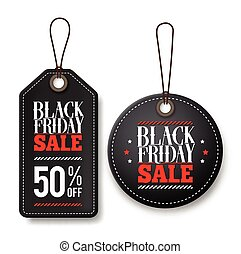Black friday sale vector price tags for discount promotions...