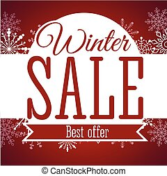 Winter sale poster. Vector illustration.