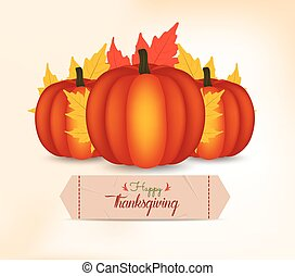 Happy Thanksgiving Day card, poster