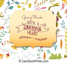 Thanksgiving card floral elements