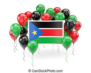 Flag of south sudan with balloons - Flag of south sudan,...