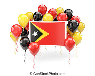 Flag of east timor with balloons - Flag of east timor, with...