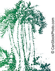 palm tree watercolor texture