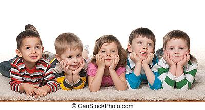 Five cheerful children
