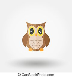 Owl. Stuffed toy. Icon for web and mobile application....