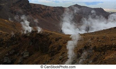Steam activity in New Zealand - Volcanic activity in...