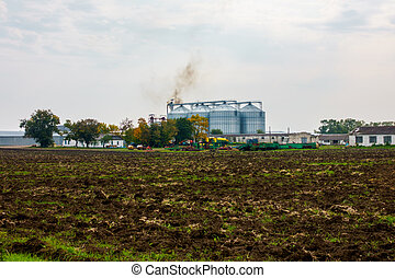 Agricultural warehouse outdoor landscape