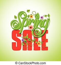 Spring Sale Word Seasonal Promotion