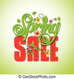 Spring Sale Word Seasonal Promotion