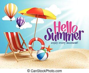 Summer Beach Vector Design