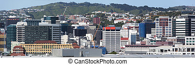 Wellington Downtown Panorama - The panoramic view of...