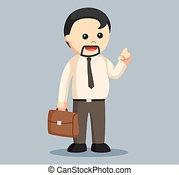 fat man businessman vector