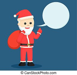 santa claus with callout