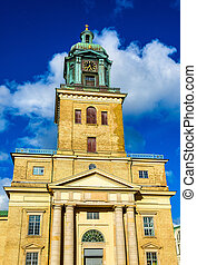 Facade of Gothenburg cathedral in Sweden