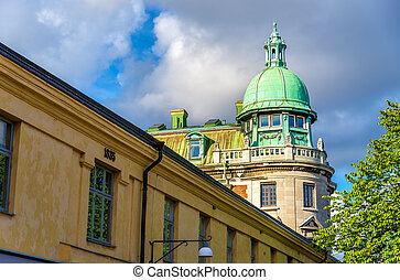 Buildings in the historic centre of Gothenburg - Sweden