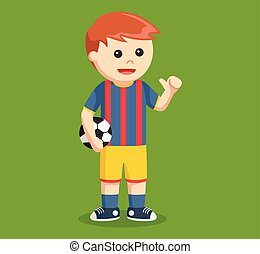 soccer ball player vector