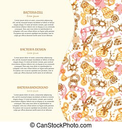 Bacteria background with text - Vector background with...