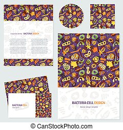 Bacteria business cards set - Vector set of corporate...