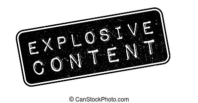 Explosive Content rubber stamp on white. Print, impress,...