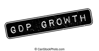 GDP Growth rubber stamp on white. Print, impress, overprint.
