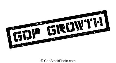 GDP Growth rubber stamp on white Print, impress, overprint