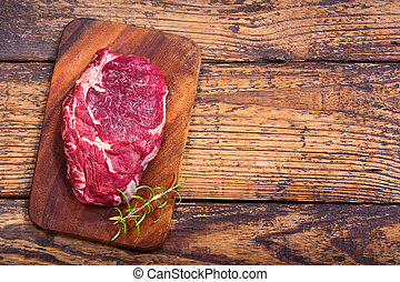 fresh meat with rosemary