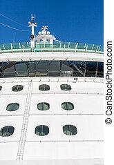 Cruise Ship Bridge Over Porthole