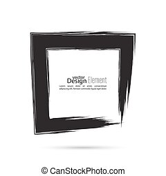 Set hand drawn square. - Hand drawn square, photo, foto...