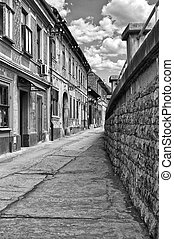 Street in Novi Sad - Streets with old houses of the old town...