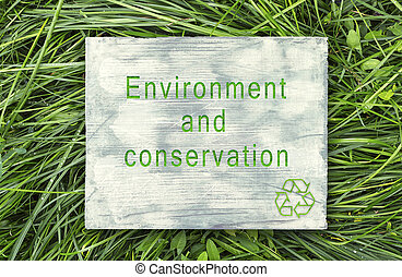 Message about ecological awareness.