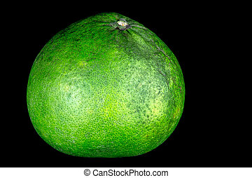 Pomelo Isolated on a Black Background - Pomelo isolated...